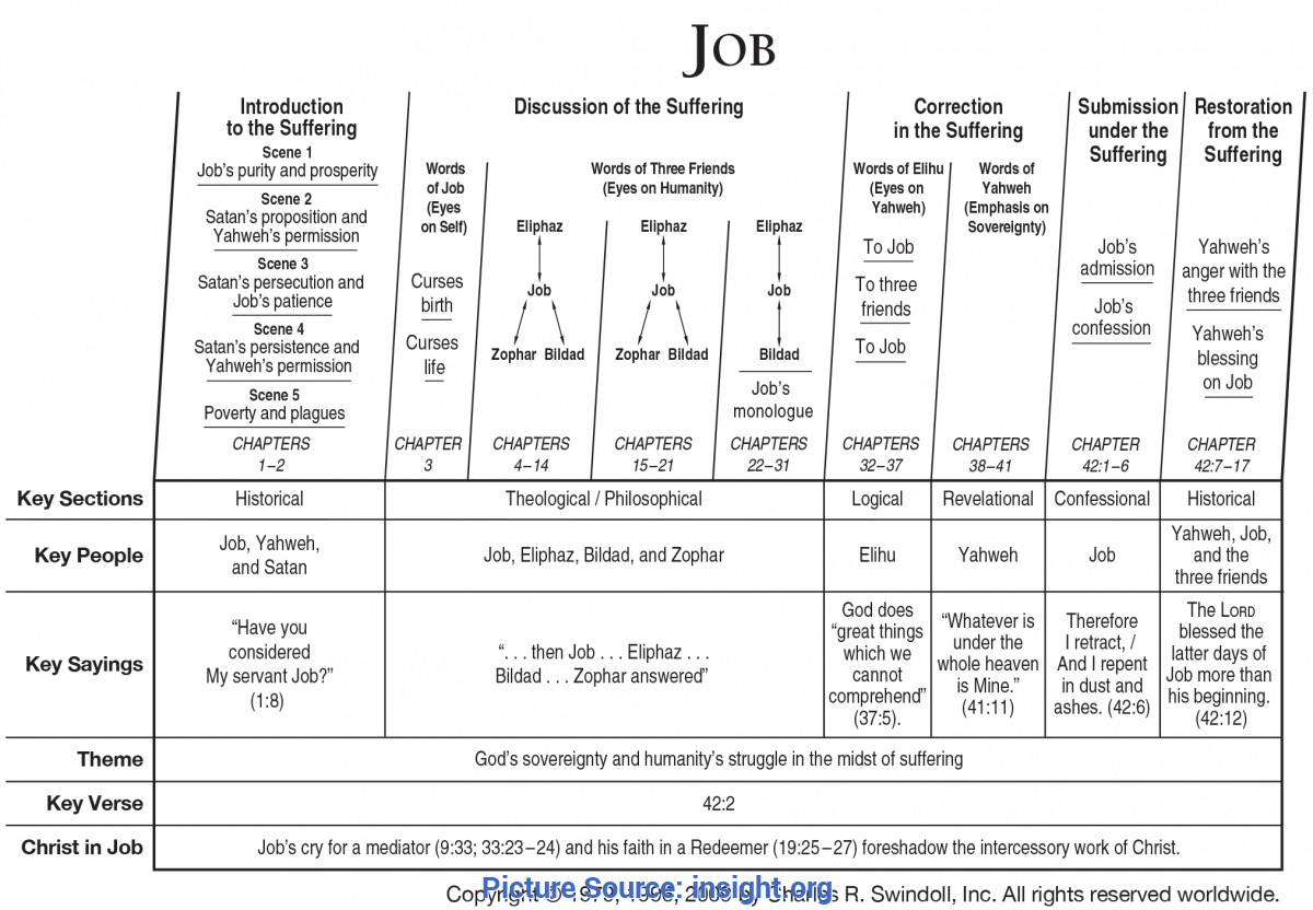 Newest Lesson Plan On The Book Of Job Book Of Job Overview - Insight For Living Minist