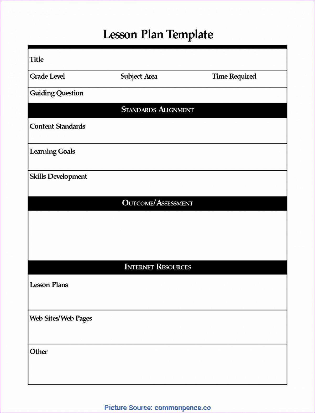 Newest Lesson Plan Template Quebec Resource Planner Excel Template - Commonpenc