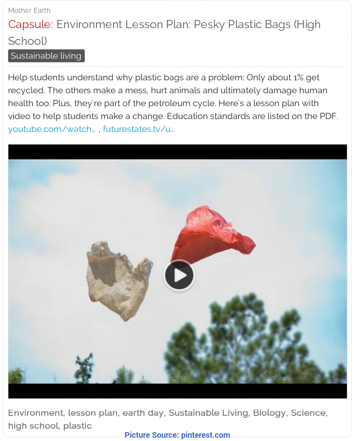 Newest Lesson Plans For Environmental Science High School Environment Lesson Plan: Pesky Plastic Bags (High School) #scienc