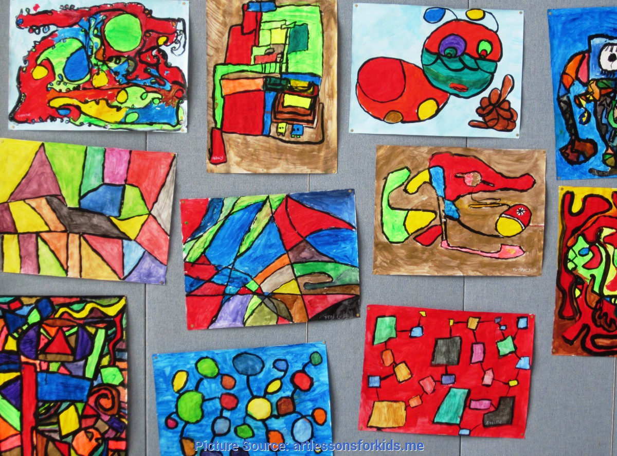 Regular Abstract Art Lessons For Elementary Students Abstract Art In Grade Three | Alejandra Ch