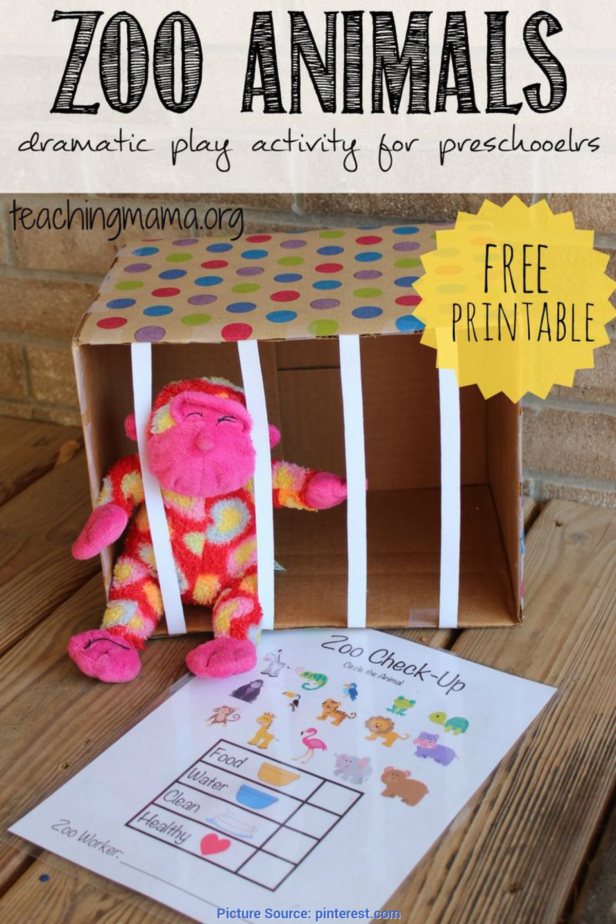 Regular Dramatic Play Lesson Plans For Preschoolers Zoo Animals - Dramatic Play Activity | Dramatic Play, Zoos An