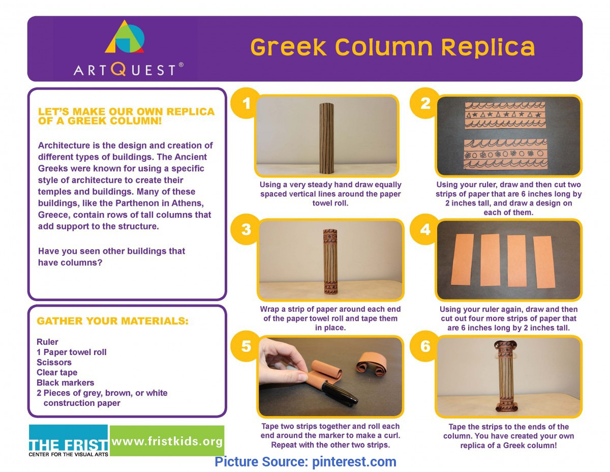 Regular Greece Lesson Plans At Home Activity: Greek Column Replica - Click The Image Above Fo