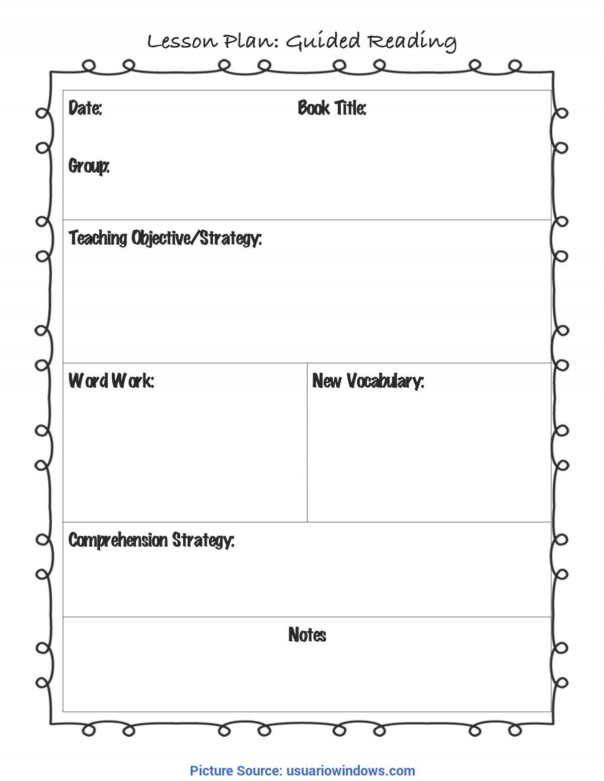Regular Guided Reading Grade 5 Guided Reading Lesson Plan Template Fountas And Pinnell | Busines