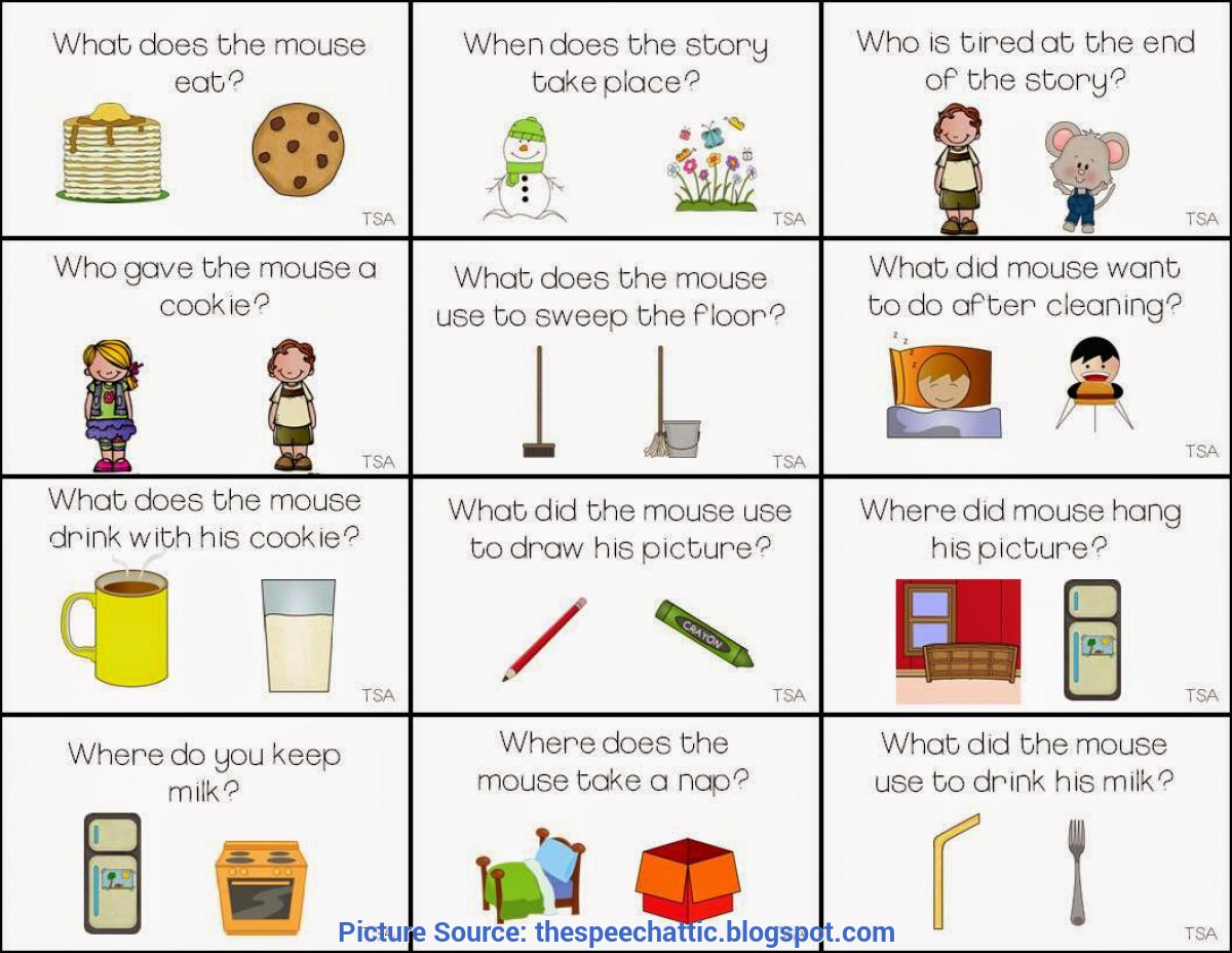 Regular Kindergarten Lesson Plan For If You Give A Mouse A Cookie The Speech Attic: If You Give A Mouse A Co