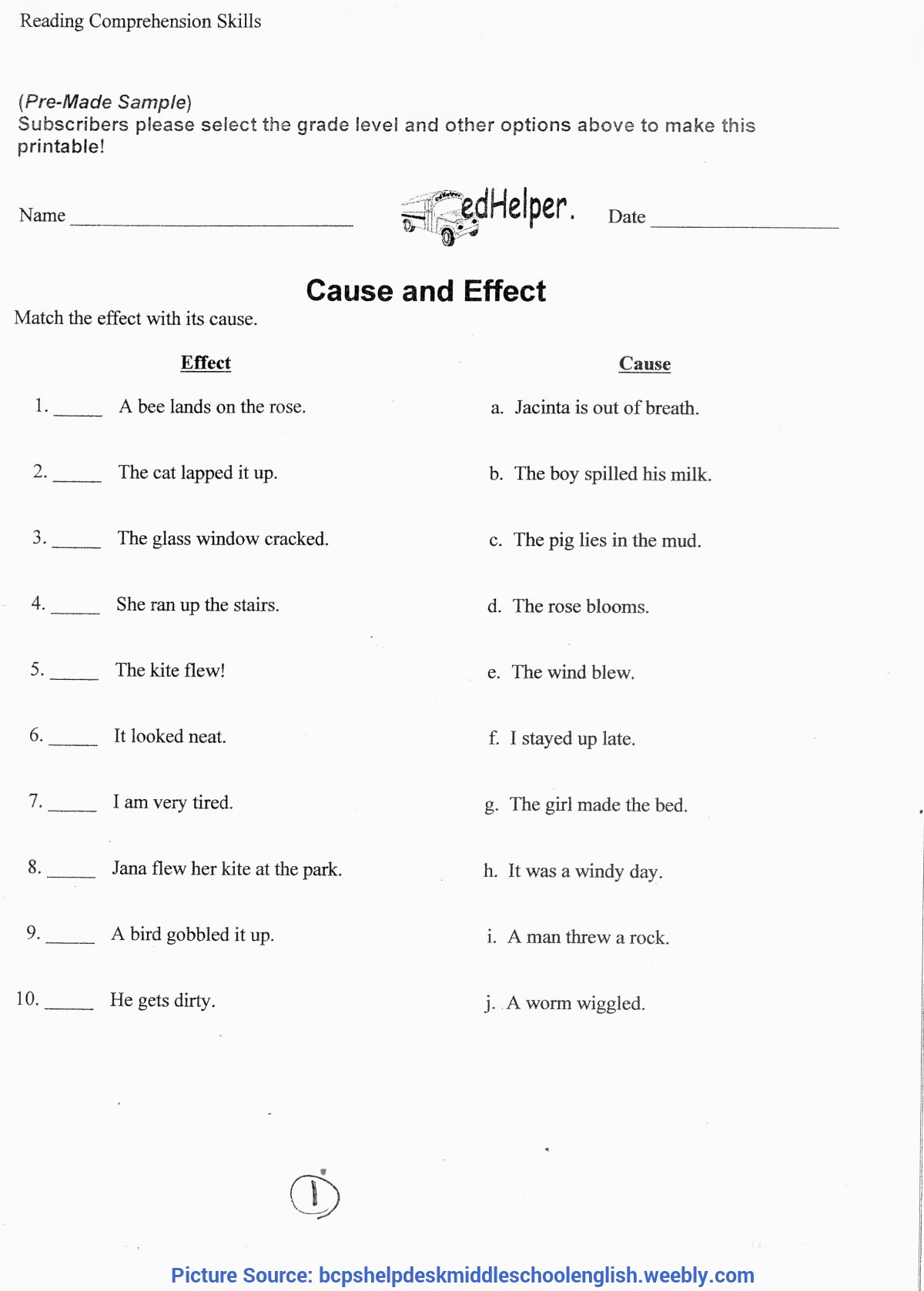 Regular Lesson Plan In English Grade 6 6Th Grade Lessons - Middle School Language Arts