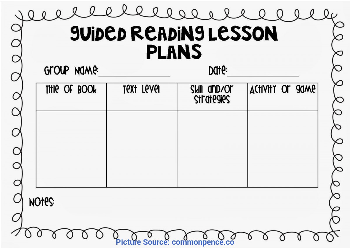 Regular Lesson Plan Sample Reading Small Group Lesson Plan Template - Commonpenc