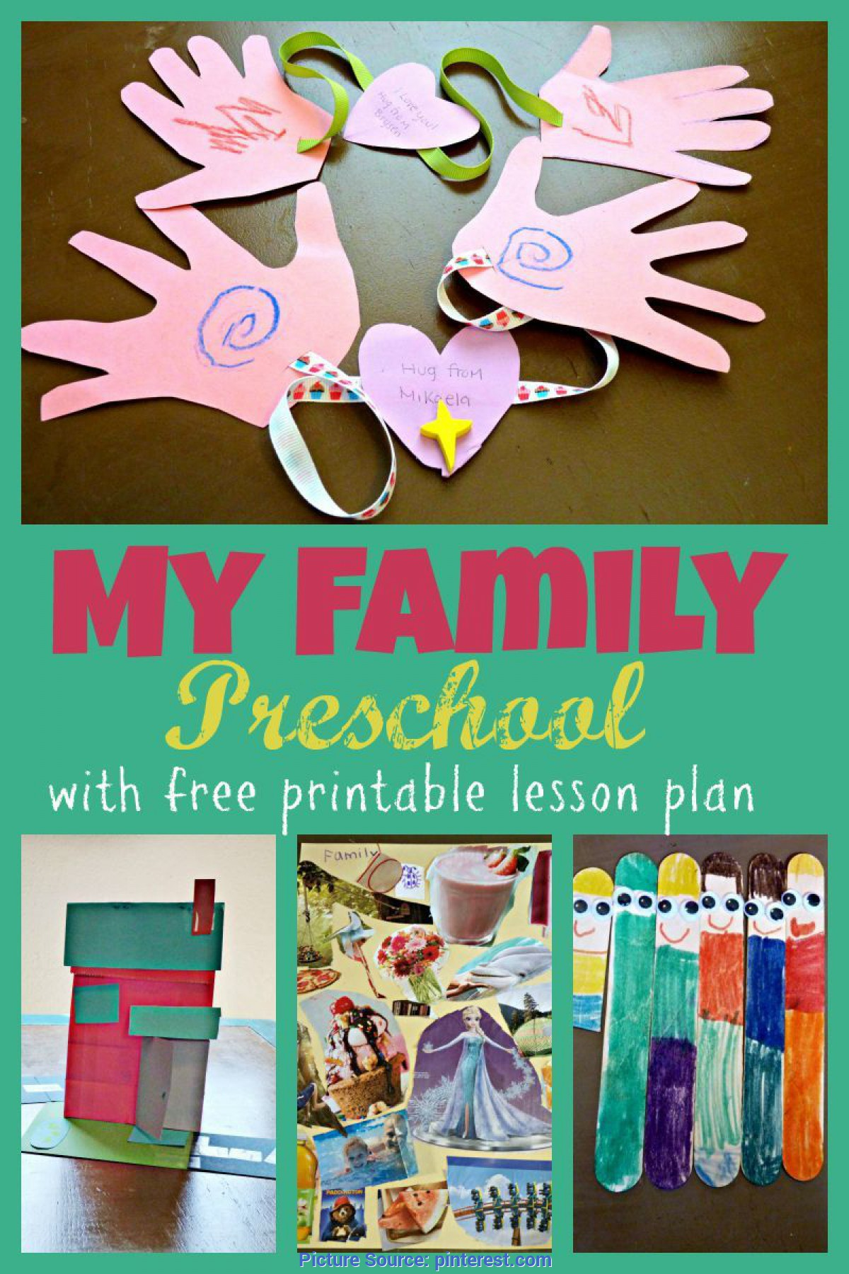 Regular Lesson Plans For Preschool About Family My Family Preschool Theme Week With Free Printable Two Day Lesso