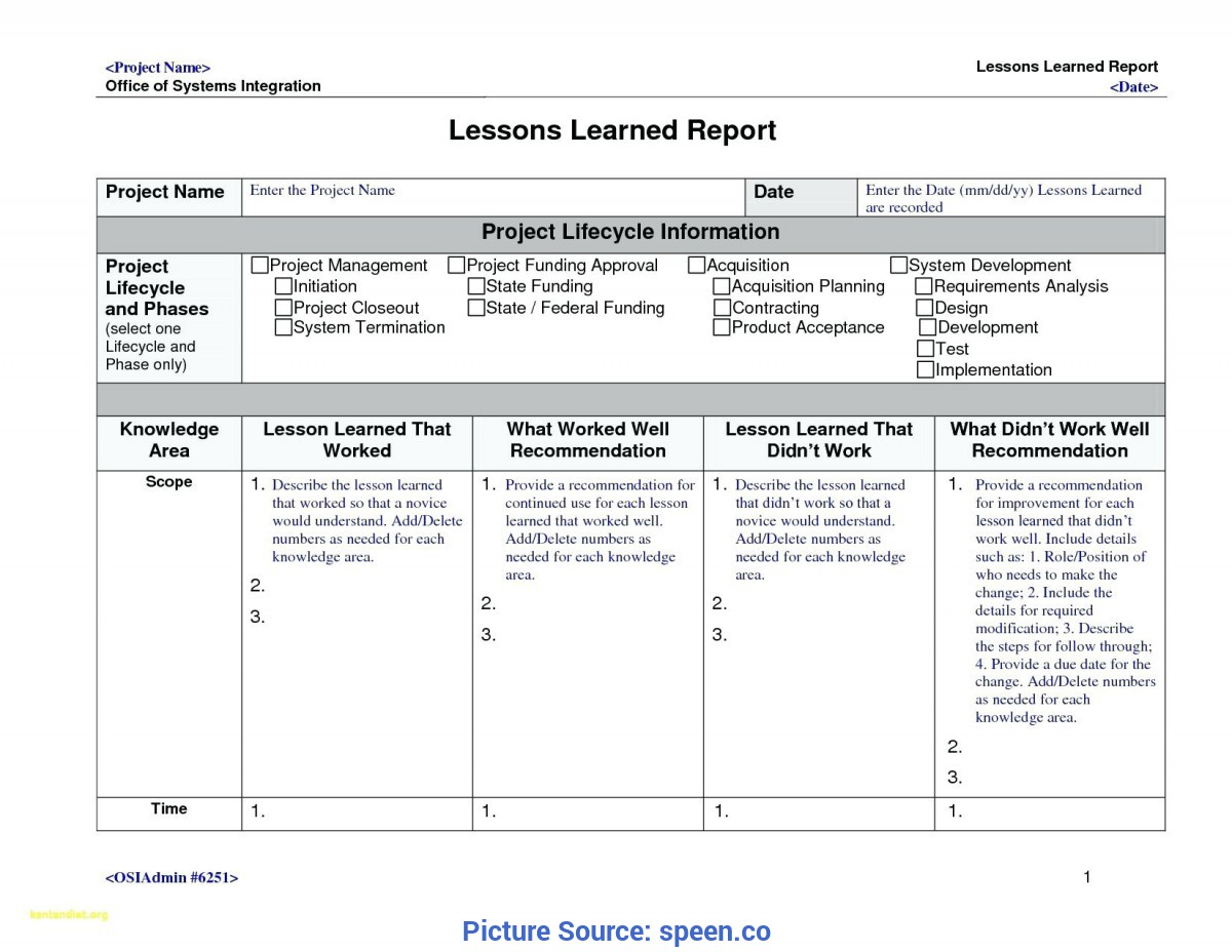Regular Lessons Learnt Template Excel Template: Lessons Learned Temp