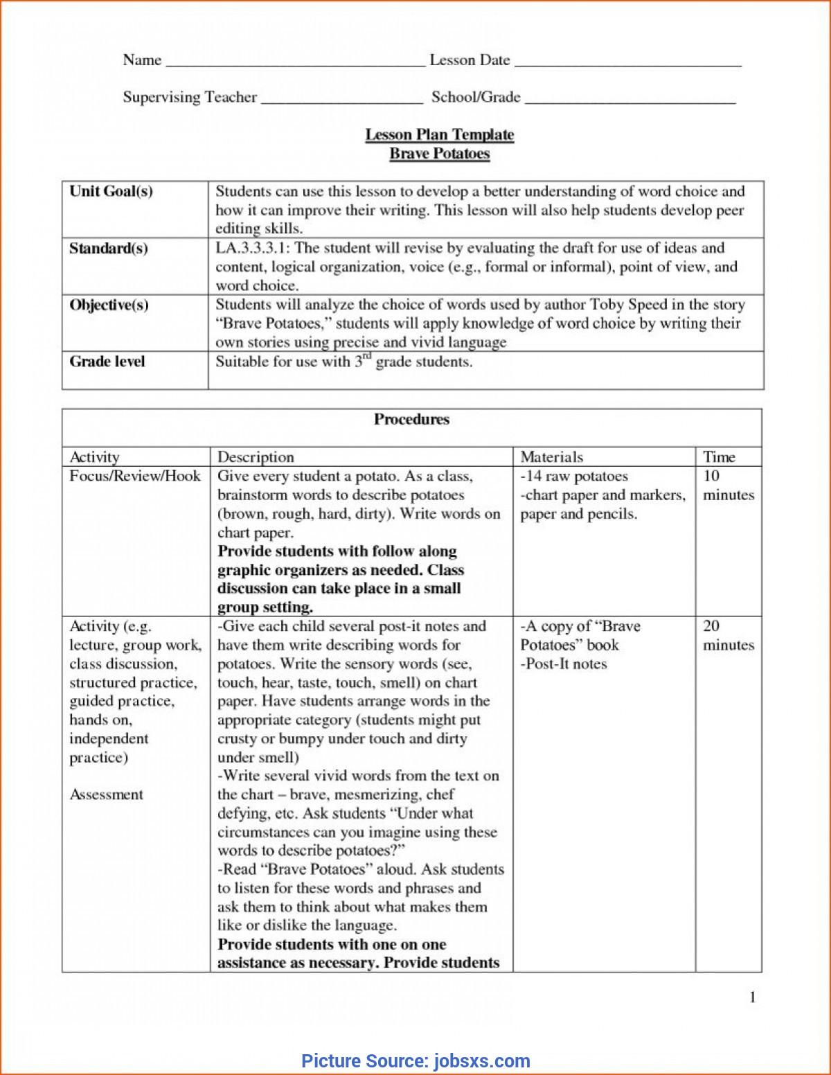 top preschool lesson plan objectives examples 44 free lesson plan templates  common core
