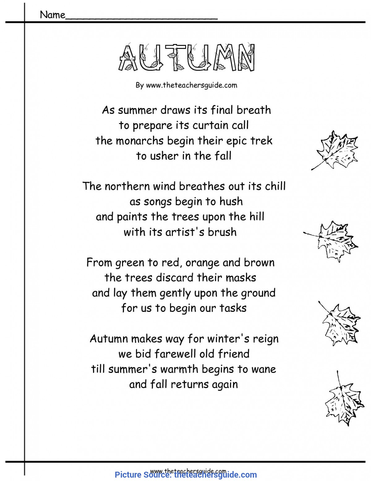 Simple Fall Lesson Plans For First Grade Fall Lesson Plans, Printouts, Themes, Crafts, And Cli