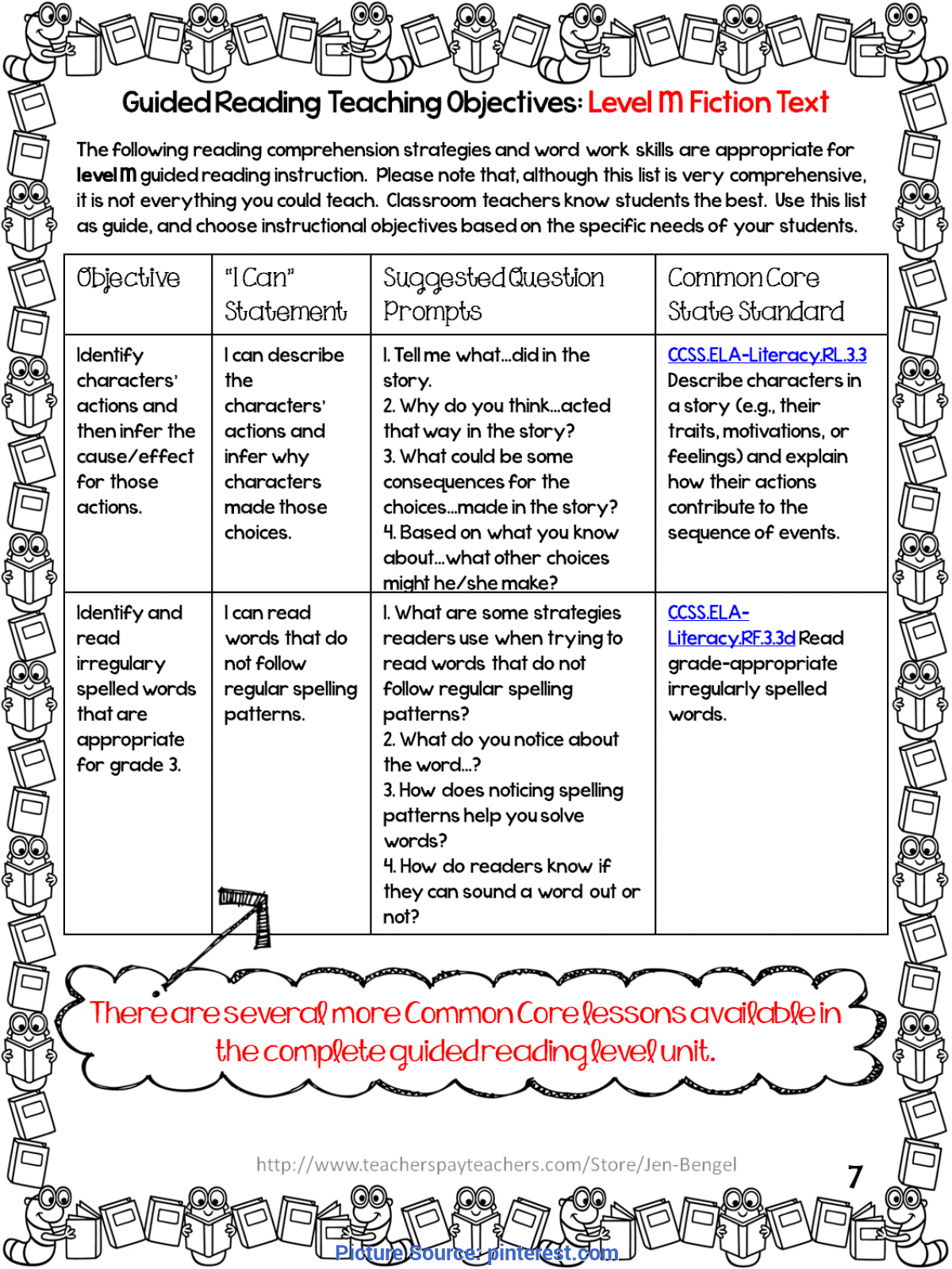 Simple Guided Reading Objectives Free Guided Reading Grade 3 Lessons | Ela | Pinterest | .Tyxgb76A