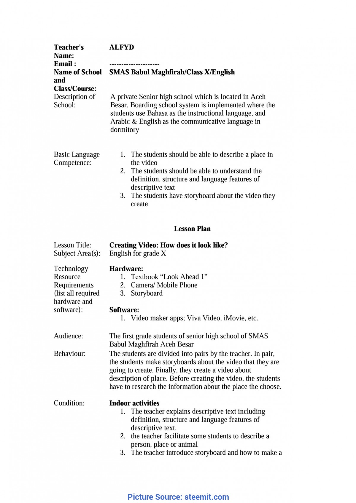 Simple How To Make A Lesson Plan For Senior High School My Lesson Plan: Using Storyboard And Video Creation In Learnin