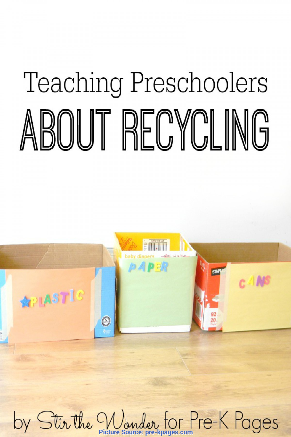 Simple Kindergarten Lesson Plans Recycling Talking About Recycling With Preschoolers - Pre-K P