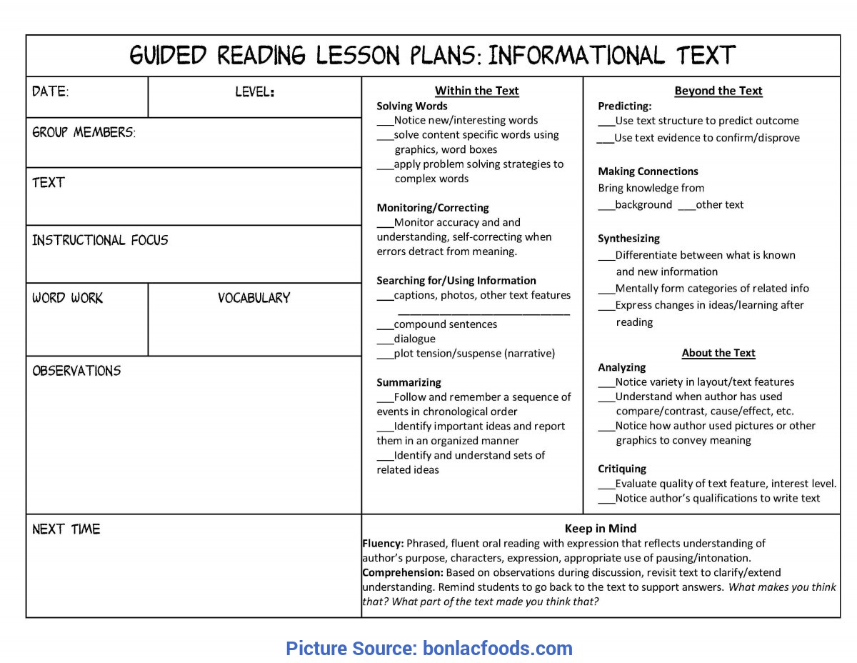 Simple Lesson Plan Example 4Th Grade Worksheets For All   Download And Share Worksheets   Free O