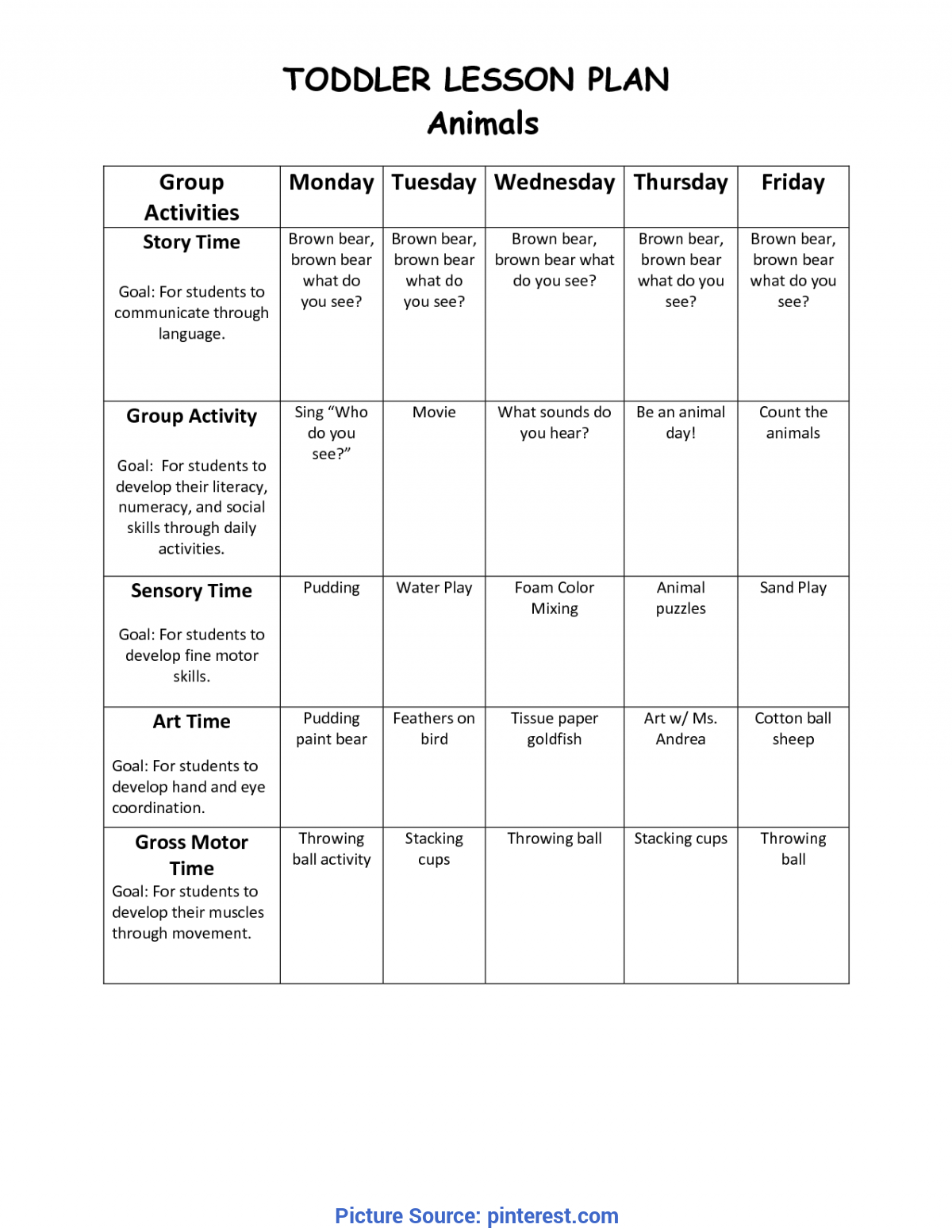 Blank Lesson Plan Template For Pre-K from ota-tech.info