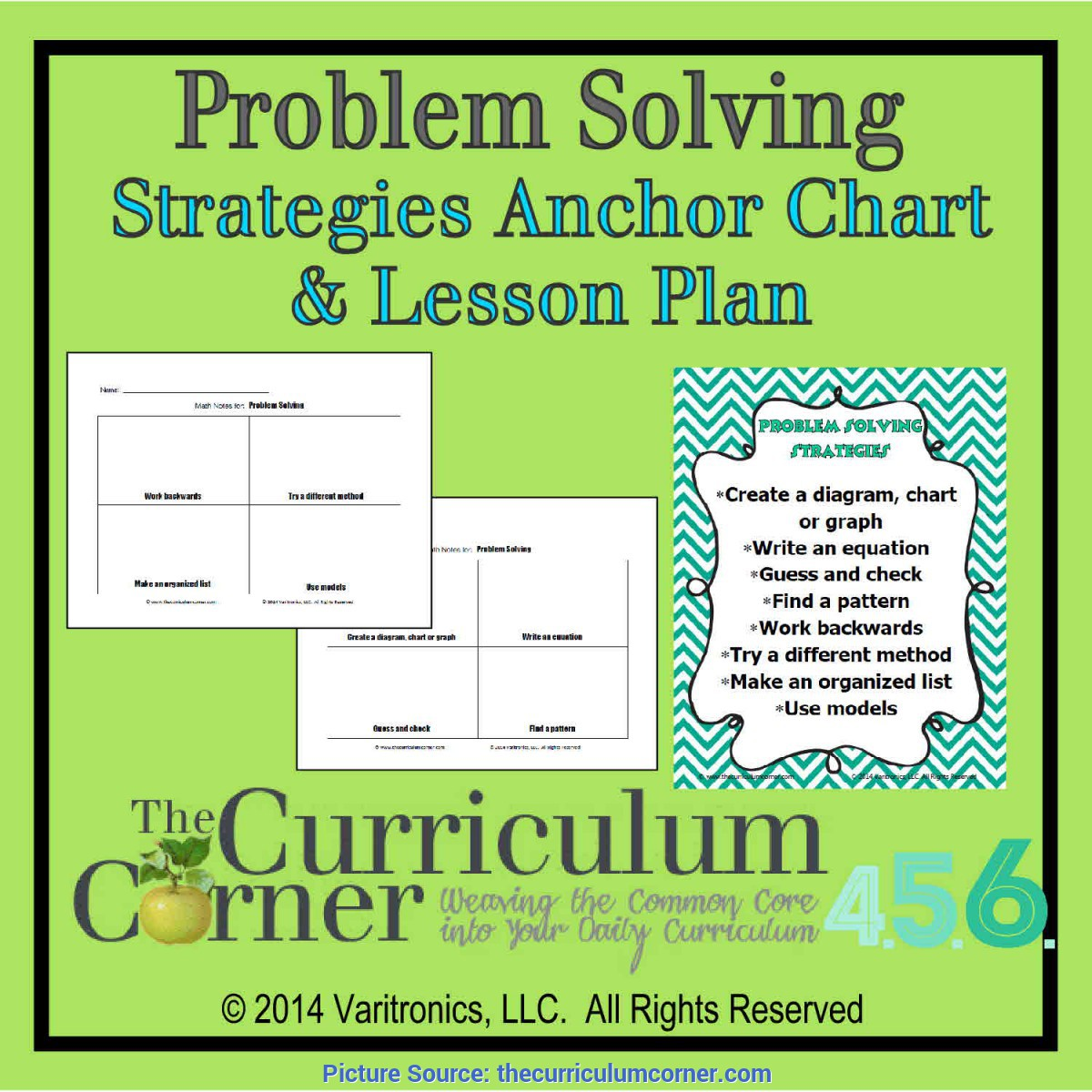 Simple Math Problem Solving Lesson Plans Problem Solving Strategies Anchor Chart & Lesson Plan - Th