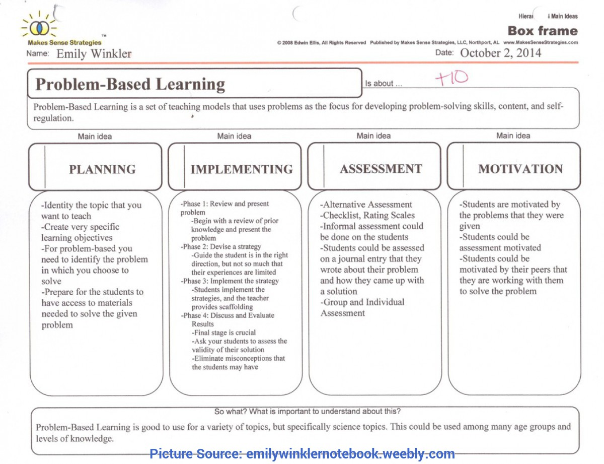 Simple Problem Based Learning Lesson Plans Problem-Based Learning - Fall