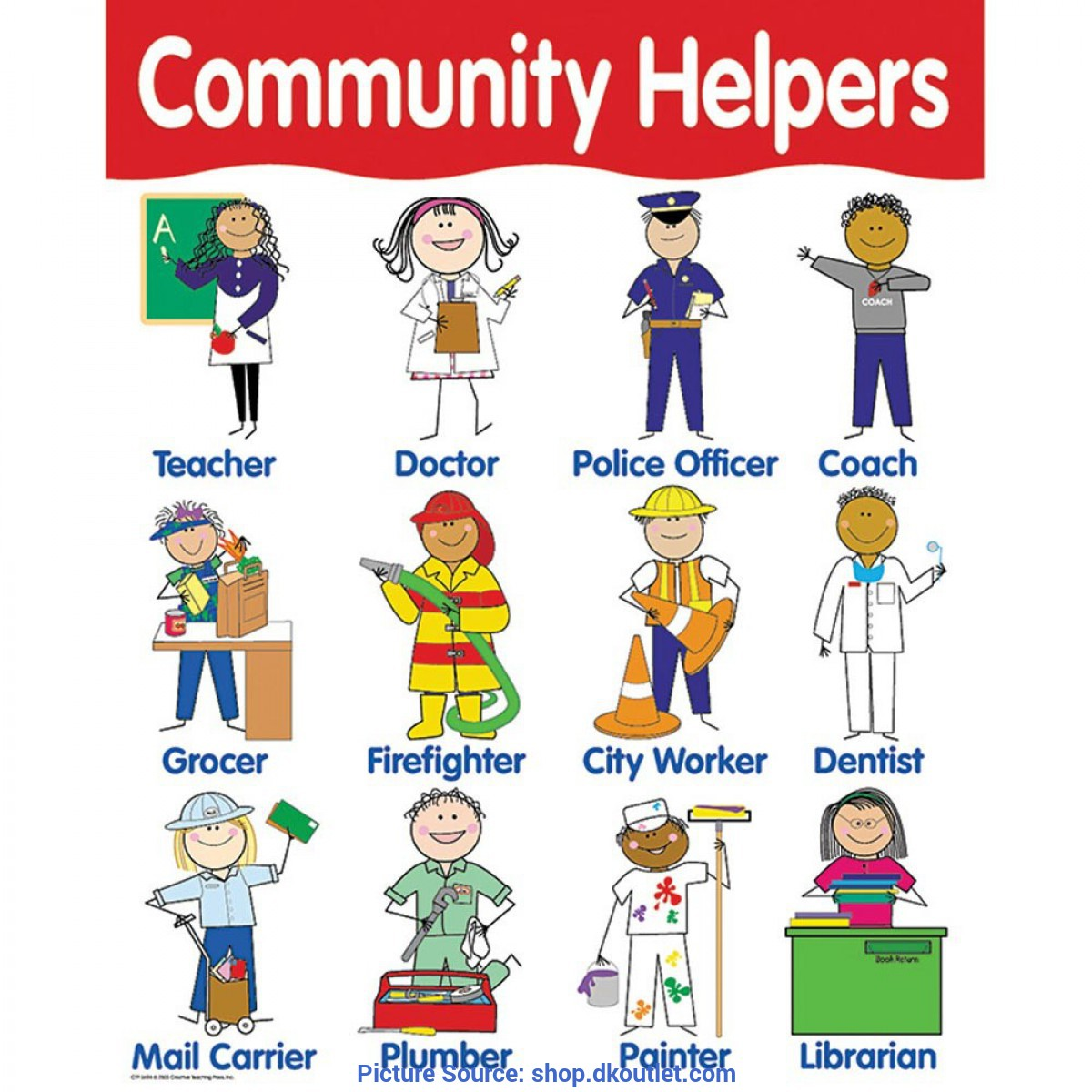 Simple Social Helpers Pictures Chart Community Helpers - Ctp5694 | Creative Teaching Press | Ch