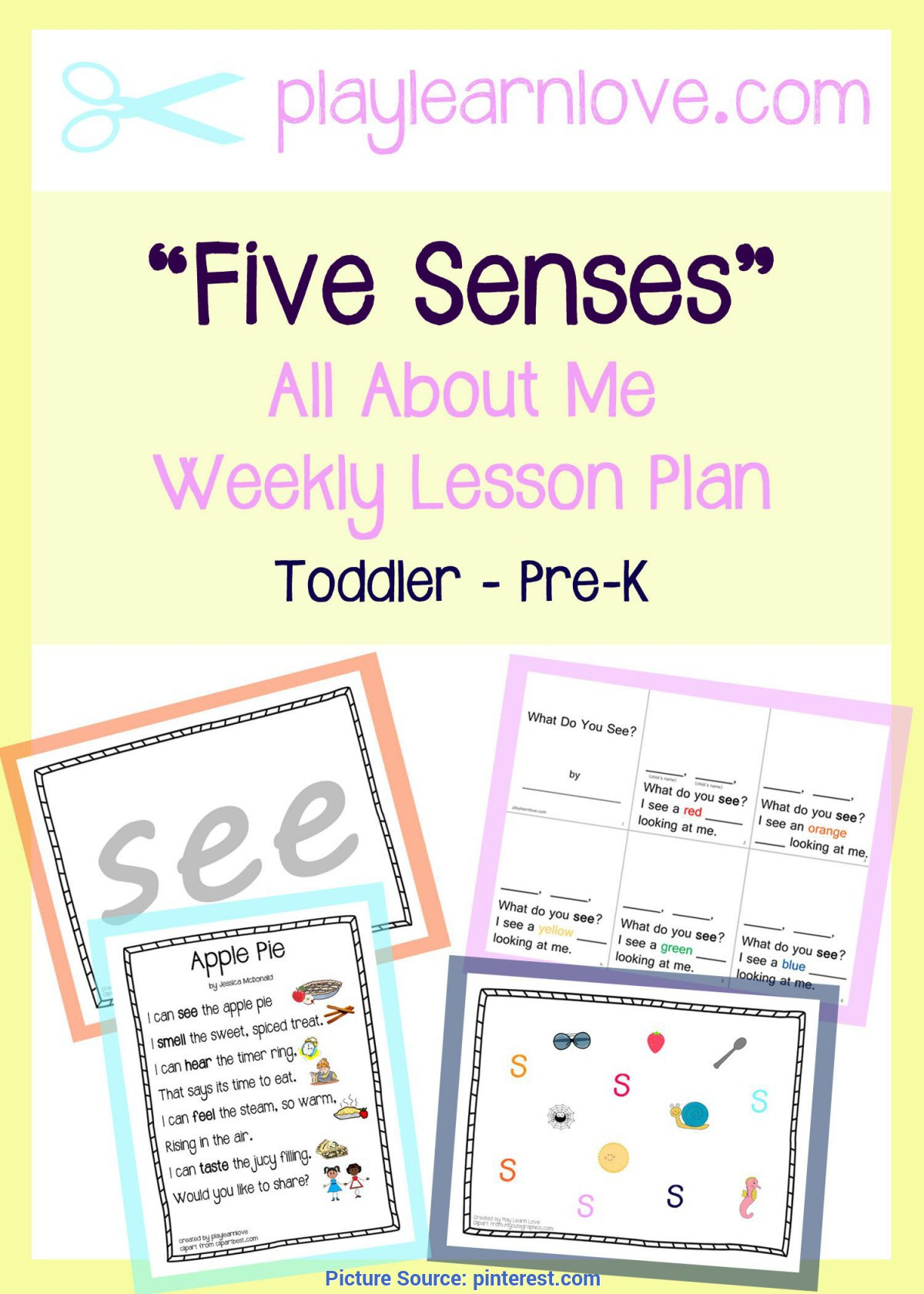 Special All About Me Lesson Plans For Infants Five Senses Lesson Plan - From Play Learn Love | Lesson Pla