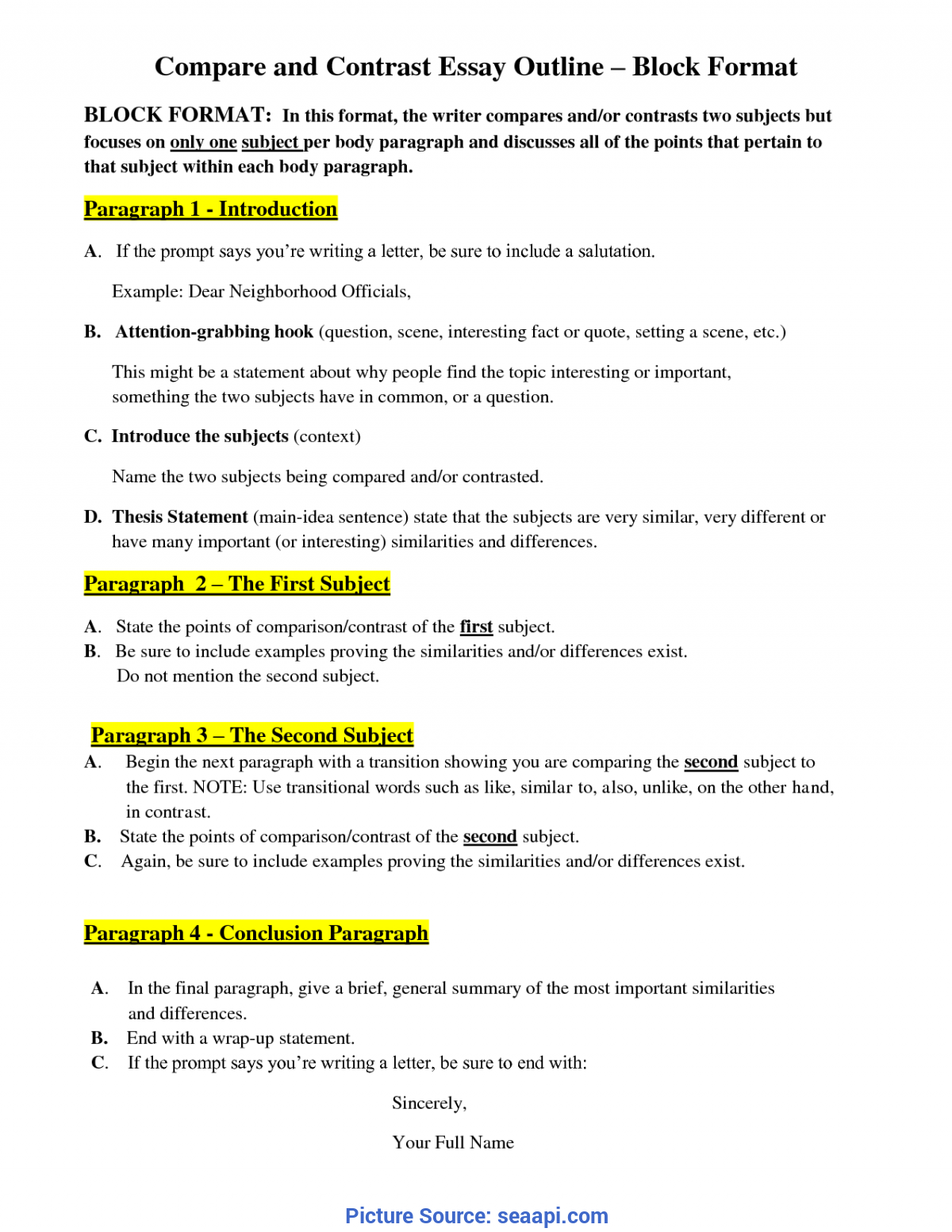 Essay Compare And Contrast Conclusion Examples For Science