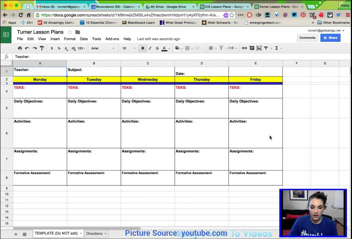 Special How To Make A Lesson Plan Using Excel Creating Lesson Plans From A Template In Google Sheets - You