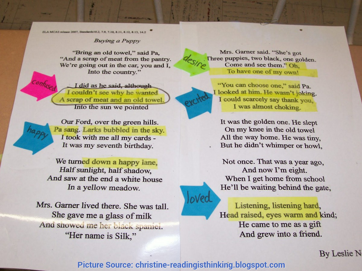Special Poetry Lesson Plans 4Th Grade Reading Is Thinking: Inference Lesson/po