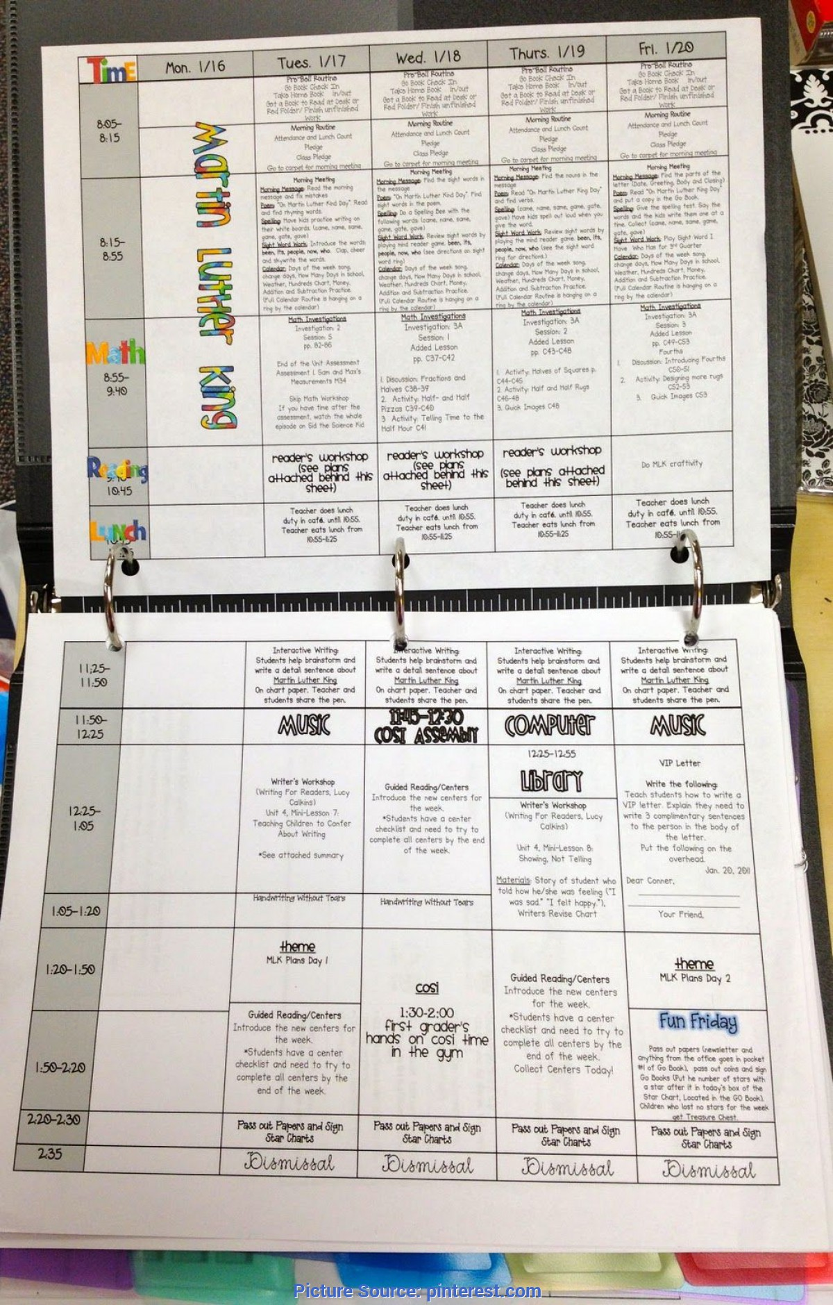 Special Pre-K Lesson Plan Examples Nice Layout For Lesson Plans And Other Binders For Organizatio