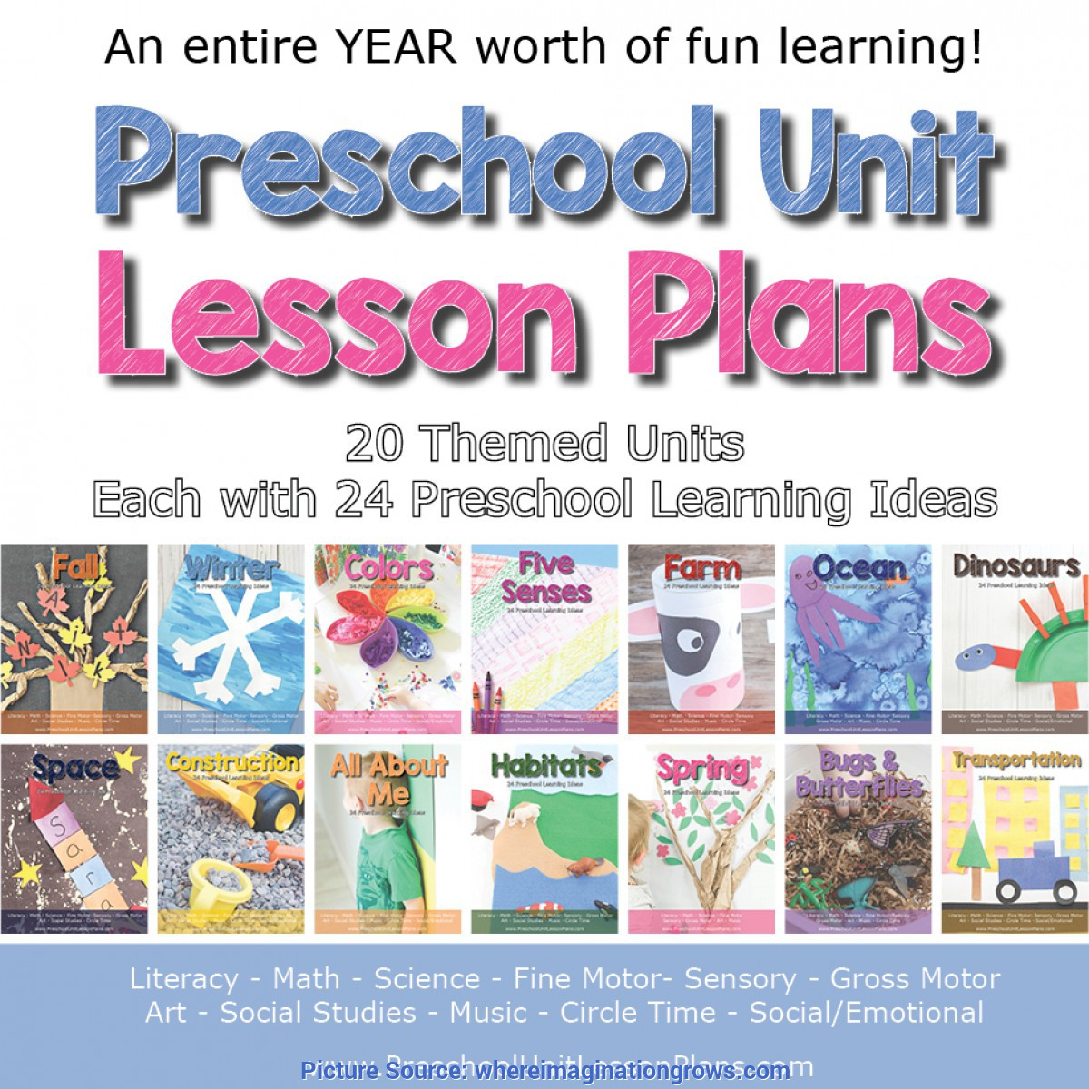 Special Preschool Art Lesson Plans A Year Of Preschool Lesson Plans Bundle - Where Imagination G