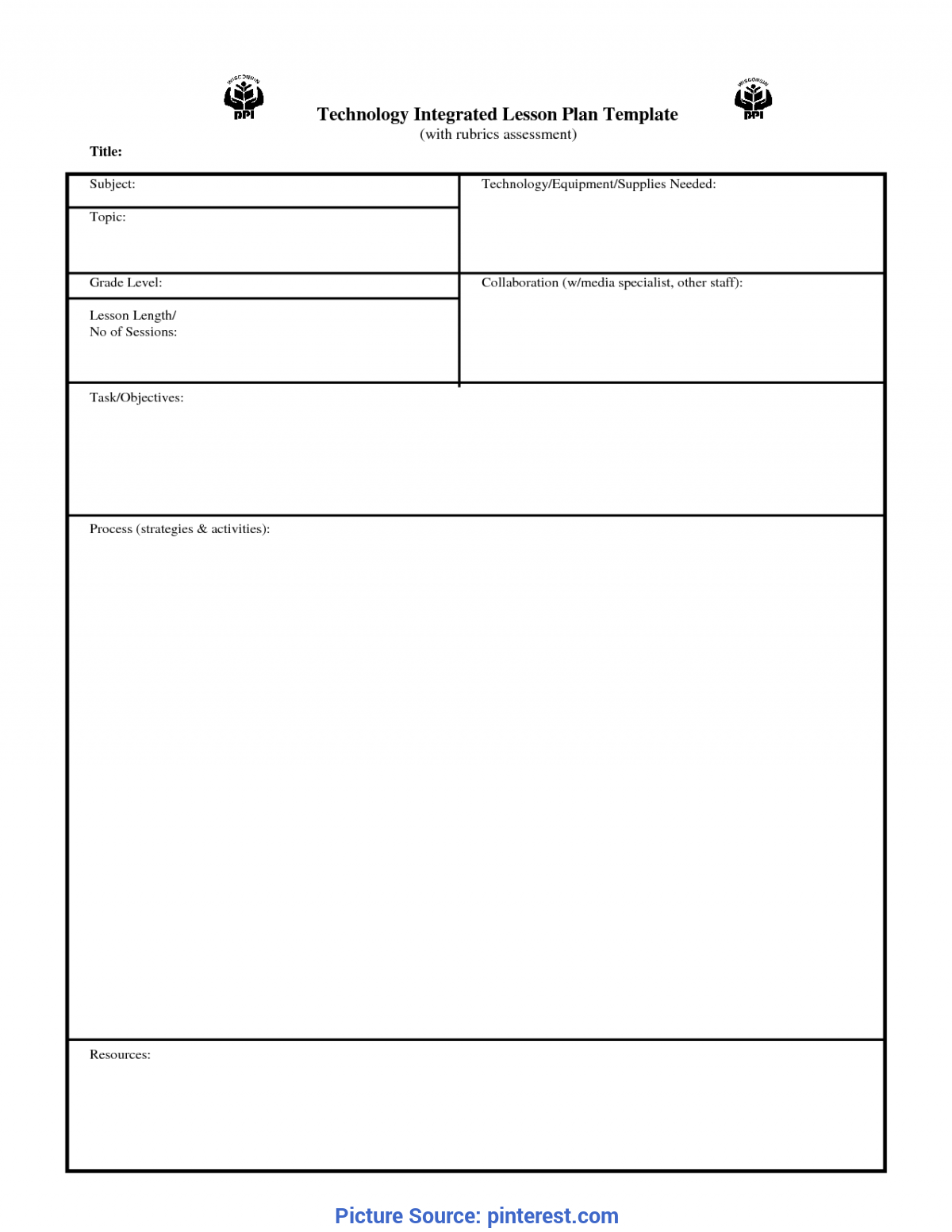 Special Teacher Lesson Plan Blank Templates This Blank, Customizable Printable Lesson Plan Form Is Ready To B
