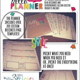 Best All In One Teacher Planner The Hello Business Planner Is Finally Here!! It Includes Over 20