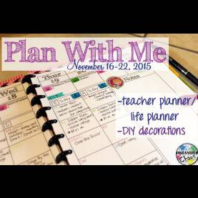 Best Elementary Teacher Planner Plan With Me: November 16-22, 2015, In My Teacher Planner - You