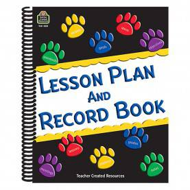 Best Lesson Plan Book Decoration Paw Prints Lesson Plan And Record Book - Tcr2551 | Teacher Create