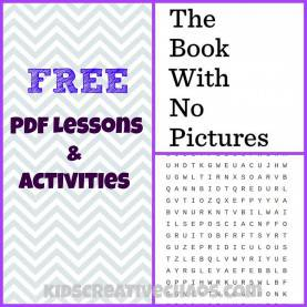 Best Lesson Plan The Book With No Pictures The Book With No Pictures Pdf Lesson Plans - Kids Creative C