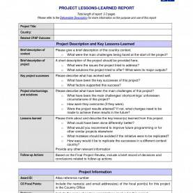 Best Lessons Learned Report Lovely Lessons Learnt Report Template Lessons Learnt Repor