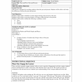 Best Model Lesson Plan For Science 5E Lesson Plan Template 7 Best Model Social Studies 8 Scienc