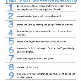 Best Preschool Lesson Plans For The 10 Commandments A True Catholic Version Of The Ten Commandments, For Kids | Th