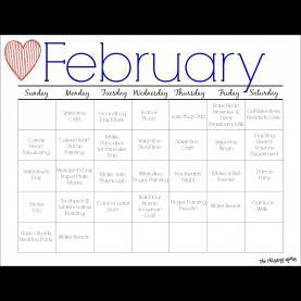 Best Printable Lesson Plans For Toddlers February Printable Activity Calendar For Kids - The Chirping