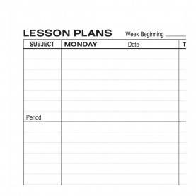 Briliant 8 Subject Lesson Plan Book Hammond & Stephens 0400 P Wire-O Bound Lesson Plan Book - Polyic