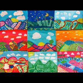 Briliant Art Lesson Plans 4Th Grade In The Art Room: Fourth Grade Color-Mixing Landscapes (Cassi