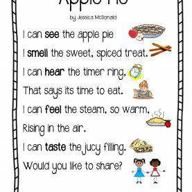 Briliant Fall Harvest Lesson Plans For Preschool All About Me Five Senses Poem : Preschool And Toddler Lesson Pla