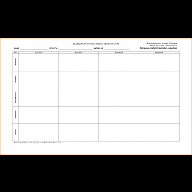 Briliant Free Lesson Plan Templates For Elementary Teachers 4+ Free Lesson Plan Templates | Teknosw