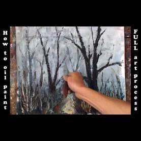 Briliant Learn Oil Painting Learn How To Oil Paint A Landscape, Foggy Landscape Painting Dem