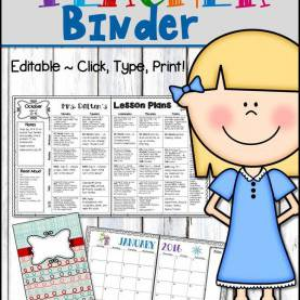 Briliant Lesson Plan Book Dividers Editable Teacher Binder And Lesson Plans €? Click, Type, Prin