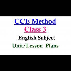 Briliant Lesson Plan For Class 3 English Class 3 English Subject Unit Cum Period Plans ~ Ts Dsc Tr