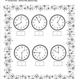 Briliant Lesson Plans For Teaching Time Year 3 Winter Lesson Plans, Themes, Printouts, Cr