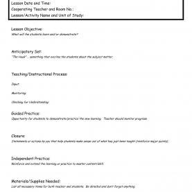 Briliant Madeline Hunter Model Lesson Plan Examples Madeline Hunter Lesson Plan Template | Best Business Templ