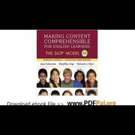Briliant Making Content Comprehensible Making Content Comprehensible For English Learners The Siop Mode