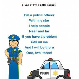 Briliant Police Officer Theme Preschool Popsicle Poem - Google Search €? | Pintere