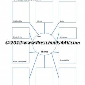 Briliant Preschool Webbing Templates Preschool Lesson Plan Template - Lesson Plan Book Template | 3'