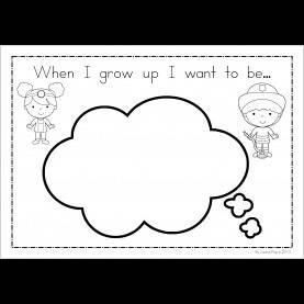 Briliant When I Grow Up Preschool Theme When I Grow Up I Want To Be Worksheet Worksheets For Al